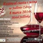 Plakat festiwal ciasta i wina