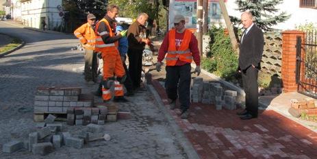 Budowa chodnika na ul. Mickiewcza