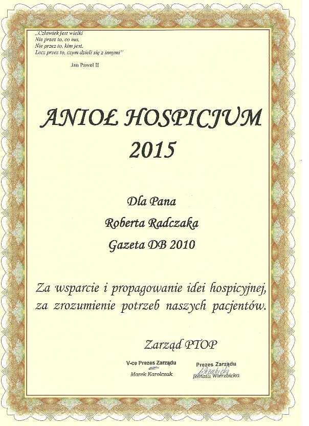 Aniol hospicjum Tygodnik DB 2010
