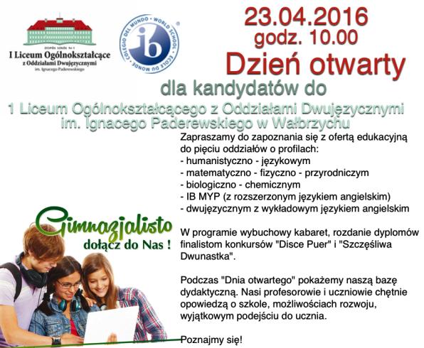 Dzien otwarty liceum 2016 info