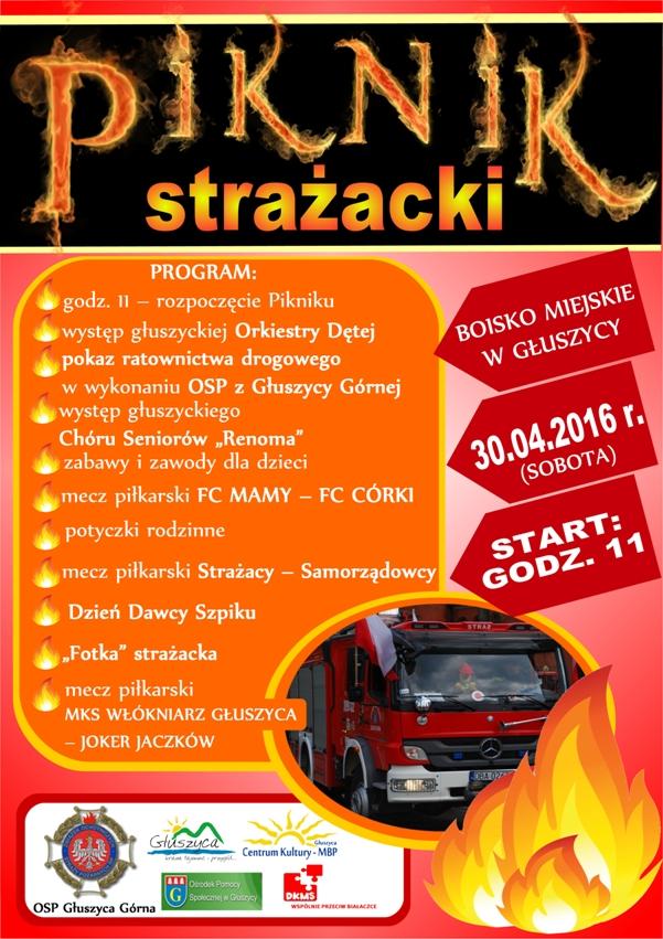 Piknik Strazacki plakat IV