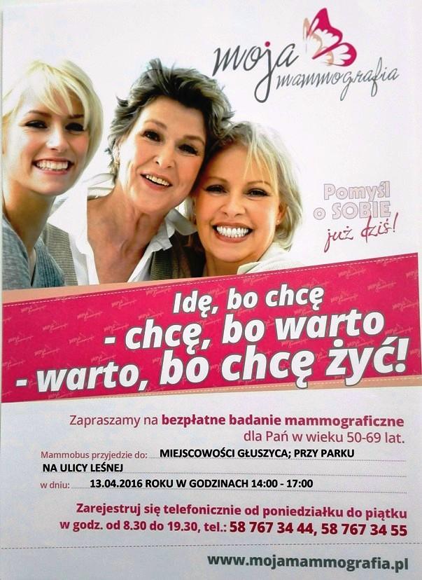 mammografia gluszyca