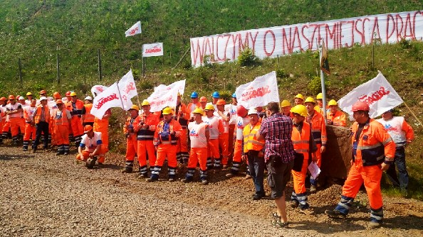 protest w kopalni rybnica