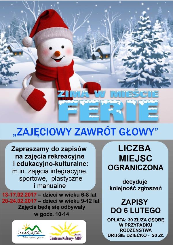 Plakat Zima w Miescie