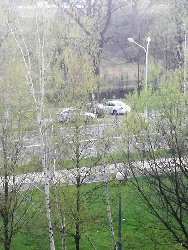 policyjna toyota na Wieniawskiego