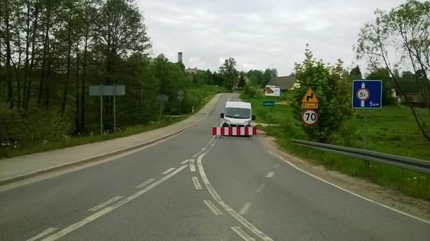 blokada przejazdu lubomin