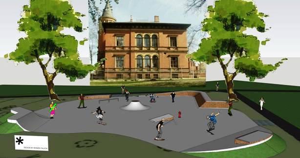wizualizacja skateparku