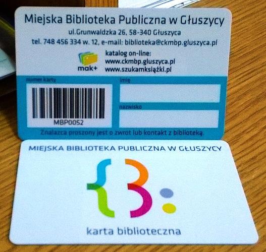 karta biblioteczna gluszyca