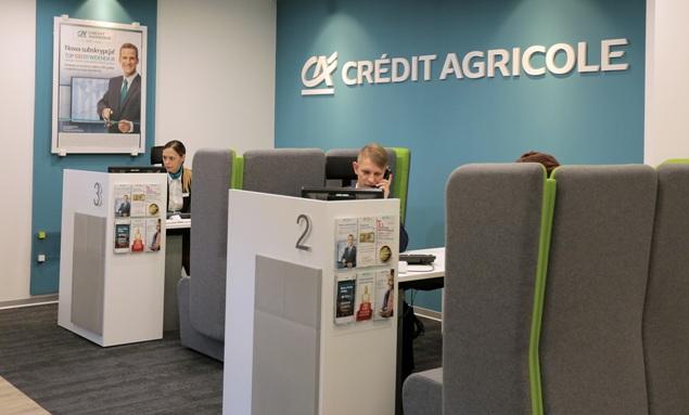 Credit Agricole oddzial wnetrze