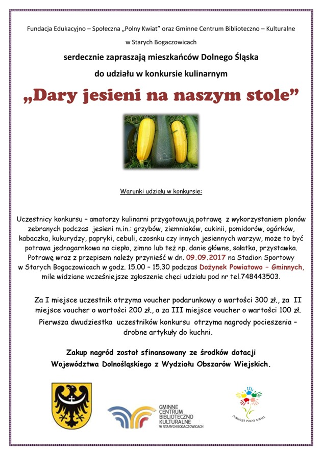 plakat konkurs dary jesieni